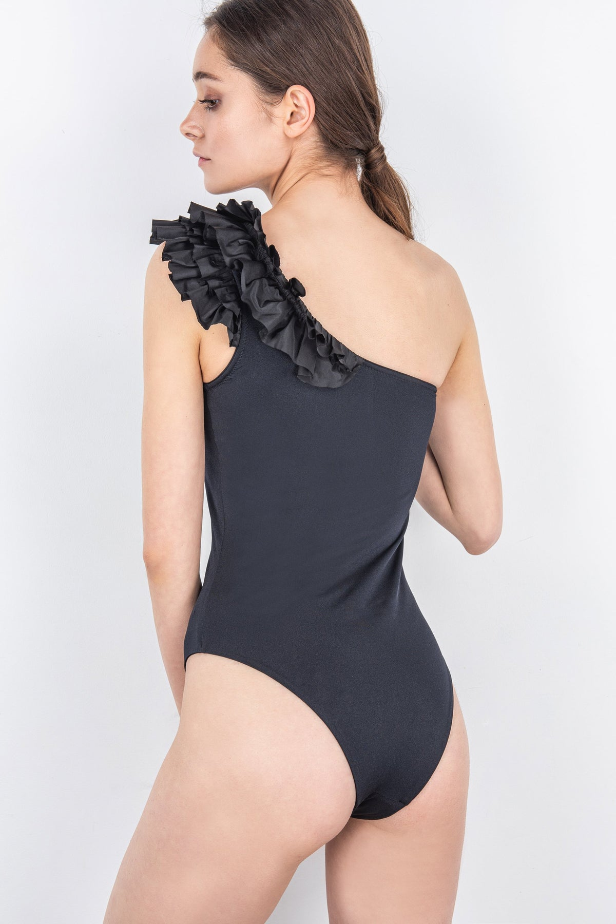 One-Shoulder One-Piece