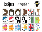 The Beatles Photo Booth Props, Printable Pop Music Party PhotoBooth Props, 0028