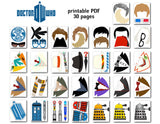 Doctor Who Photo Booth Props, Printable Doctor Who Party PhotoBooth Props, 0048