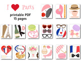 Paris Inspired Photo Booth Props, France Travel Photo Booth Props, 0082
