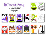 Halloween Photo Booth Props, Printable Nightmare Before Christmas Photo Booth Props, 0144