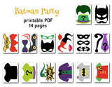 Batman and Joker Photo Booth Props, Superhero Photo Booth Props, 0399
