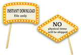 Movie Party Photo Booth Props, Printable Hollywood Party Oscar Awards PhotoBooth Props, 0160