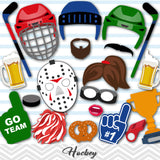 Hockey Photo Booth Props, Hockey Game Photo Booth Props, 0014