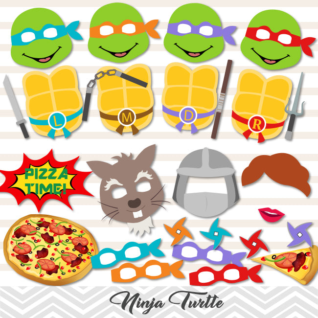 It is a graphic of Printable Ninja Turtles with regard to valentine