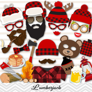 Lumberjack Photo Booth Props, Lumberjill Party, Paul Bunyan Photo Booth Props, 0039