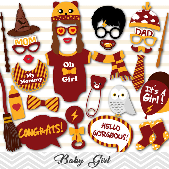 Harry Potter Girl Baby Shower Photo Booth Props, Printable Harry Potter Baby Girls PhotoBooth Props, 0059