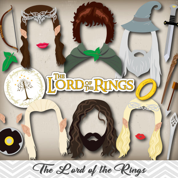 The Lord of The Rings Photo Booth Props, Printable The Hobbit Party PhotoBooth Props, 0052