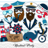 Nautical Photo Booth Props, Printable Sailor Photo Booth Props, 0035
