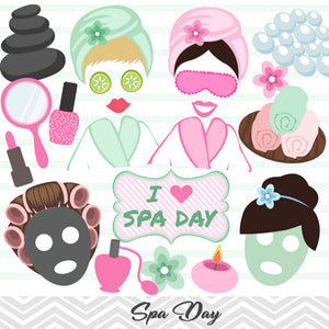 Spa Day Photo Booth Props, Girls Spa Salon Party Photo Booth Props, 0183