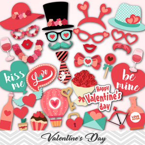 Valentine's Day Photo Booth Props, 0080