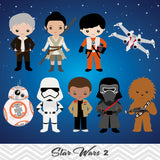 NEW Star Wars Digital Clip Art, Star Wars Party Clipart, 00227