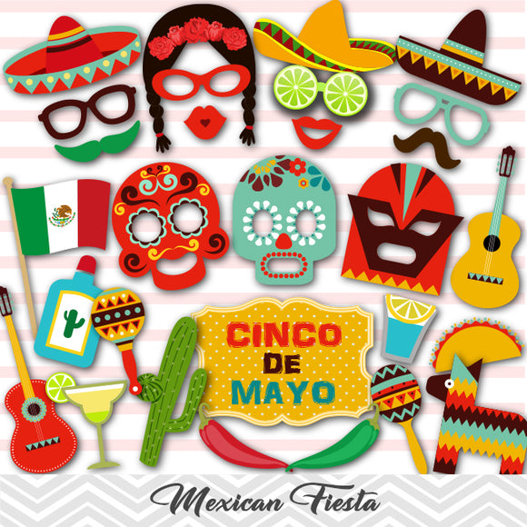 Mexican Fiesta Photo Booth Props,  Cinco de Mayo Photo Booth Props, 0209
