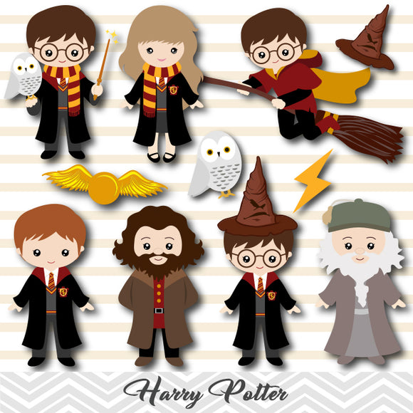 Harry Potter Digital Clipart, Harry Potter Clip Art, 00090