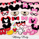 Mickey Photo Booth Props, Pink Minnie Photo Booth Props, 0189