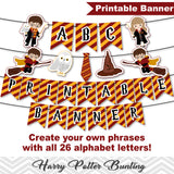 Printable Harry Potter Party Banner, Harry Potter Birthday Party Bunting, Digital Banner/Bunting 00290