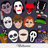 Halloween Photo Booth Props,  Horror Movie Night Photo Booth Props, 0110