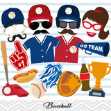 Baseball Party Photo Booth Props, Printable Sports Baseball Team PhotoBooth Props, 0084