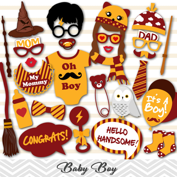 Harry Potter Boy Baby Shower Photo Booth Props, Printable Harry Potter Baby Boys PhotoBooth Props, 0058