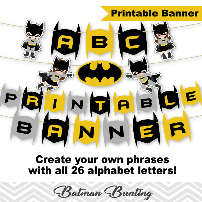 picture about Printable Superhero named Printable Batman Banner, Electronic Batman Bunting, Printable Superhero Social gathering Banner, Batman Birthday Social gathering Bunting 0288