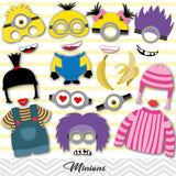 Minions Photo Booth Props, Printable Minions Party Photo Booth Props, 0156