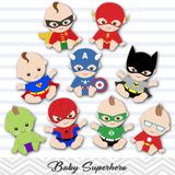 Superhero Baby Boys Clip Art, Baby Boy Superhero Clipart, 00229