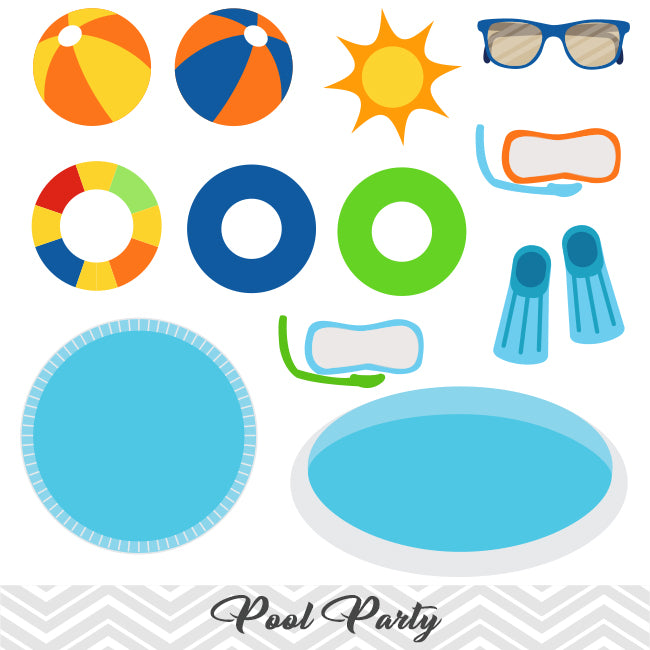 Boys Pool Party Clip Art Swim Clipart Summer