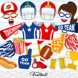 Football Photo Booth Props, Football Game Photo Booth Props, 0103