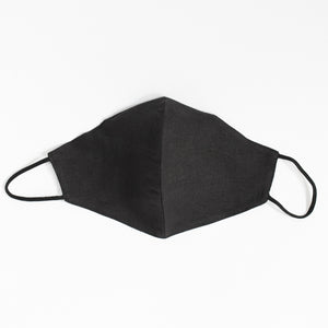 Cotton Face Cover  In Black
