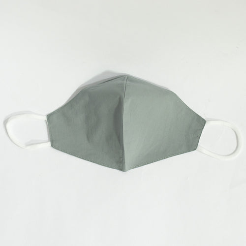 Cotton Face Mask In Light Grey