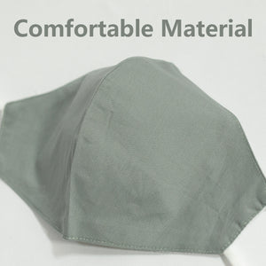 Cotton Face Cover In Light Grey
