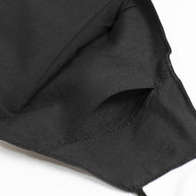 Load image into Gallery viewer, Cotton Face Cover  In Black