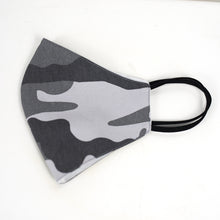 Load image into Gallery viewer, Cotton Face Cover in Grey Camouflage Print