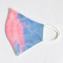 Load image into Gallery viewer, Cotton Face Mask In Multicolour Neon Tie Dye