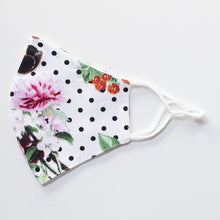 Load image into Gallery viewer, Cotton Face Cover in Floral & Dot Print