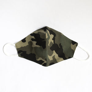 Cotton Face Cover  in Green Camouflage Print