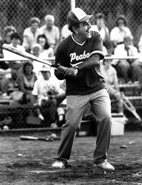 Mayor Peter Torigian playing in a softball game, 1990. -- Courtesy The Salem News