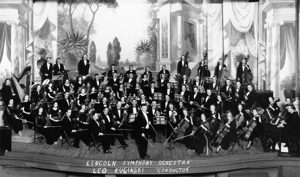 The Lincoln Symphony Ochestra, circa 1935. -- Nebraska State Historical Society