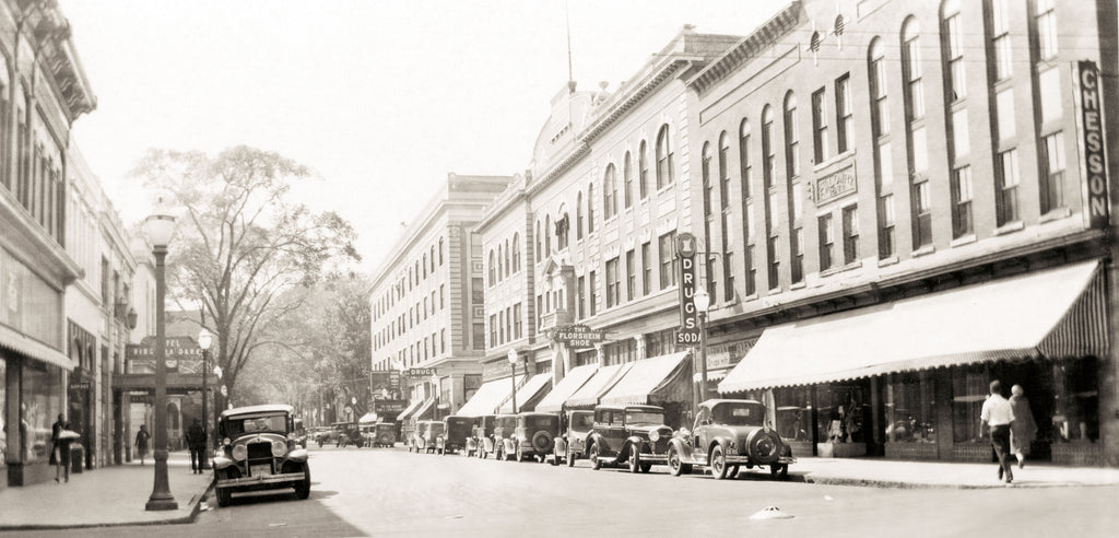 The cover image, courtesy of Norfolk Public Library, Sargeant Memorial Collection, depicts a street scene in downtown Elizabeth City, circa 1930.