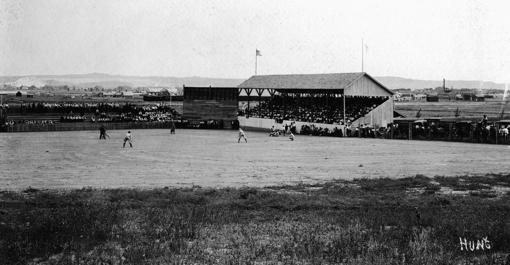 Baseball stadium built for the city by Austin North, circa 1910. -- Courtesy North Family