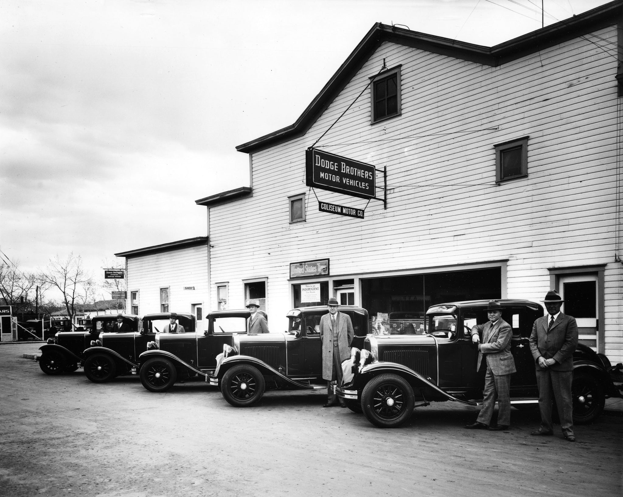 Dodge Brothers coupes at Coliseum Motors, Casper, Wyoming, 1930. -- Courtesy Casper College Western History Center