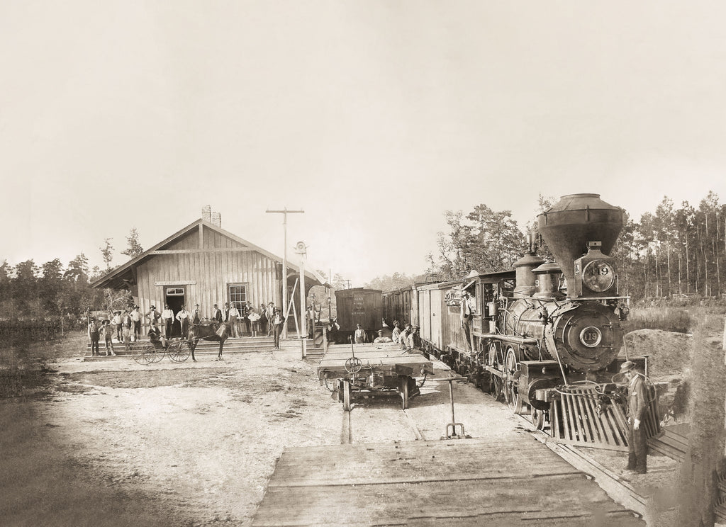 The cover image, courtesy of Ayden Historical and Arts Society, depicts a train at the Ayden depot in 1890.