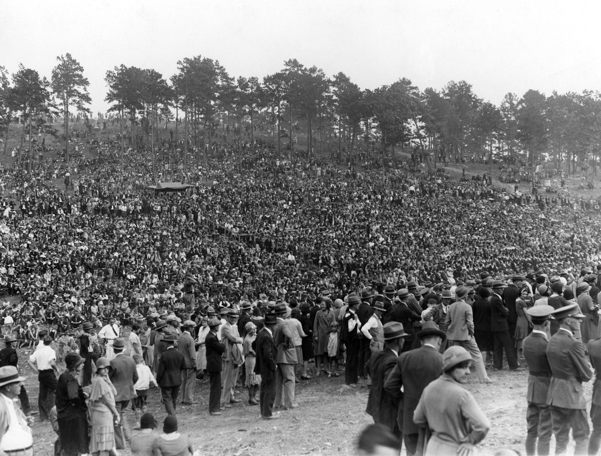 Part of the crowd of 75,000 people gathered to see President Herbert Hoover speak at the 150th anniversary celebration of the Battle of Kings Mountain in 1930. -- Courtesy of Loretta Cozart