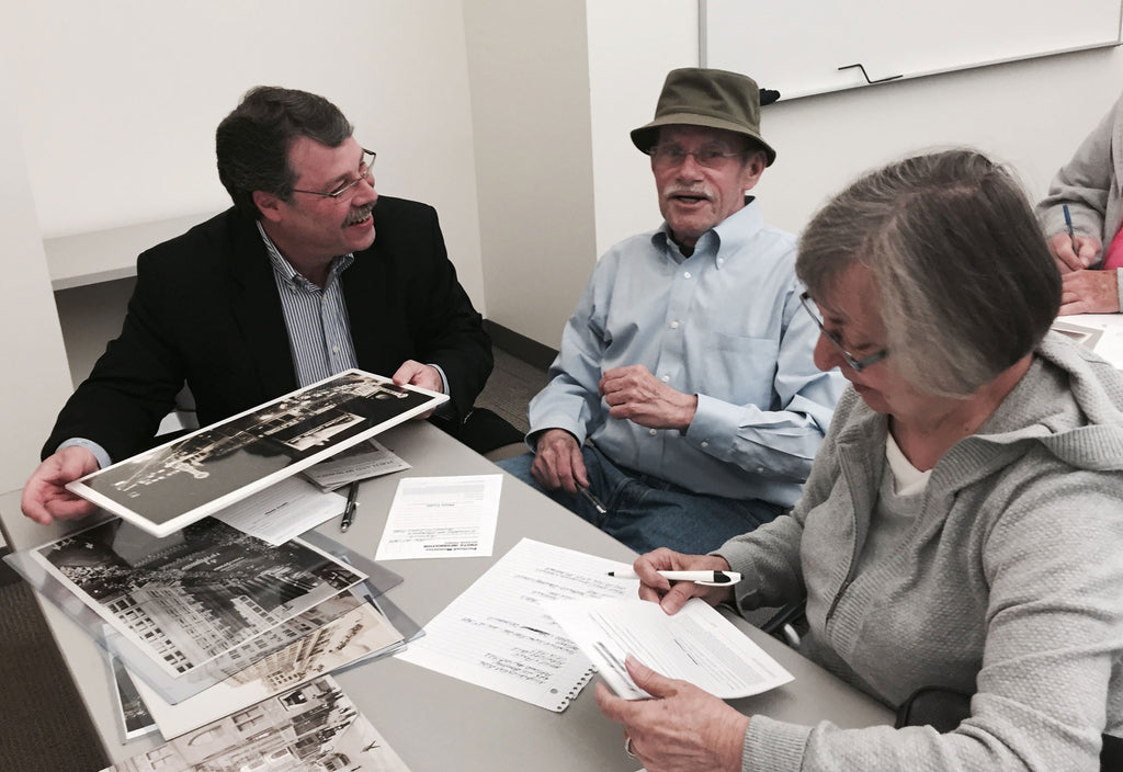 Dick and Ruth Groat discuss their photos with Pediment Publishing President Brad Fenison.