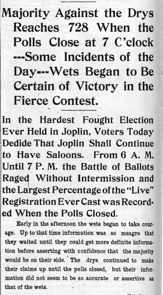 Excerpt from the Joplin News Herald extra on January 27, 1910. -- JOPLIN GLOBE ARCHIVES