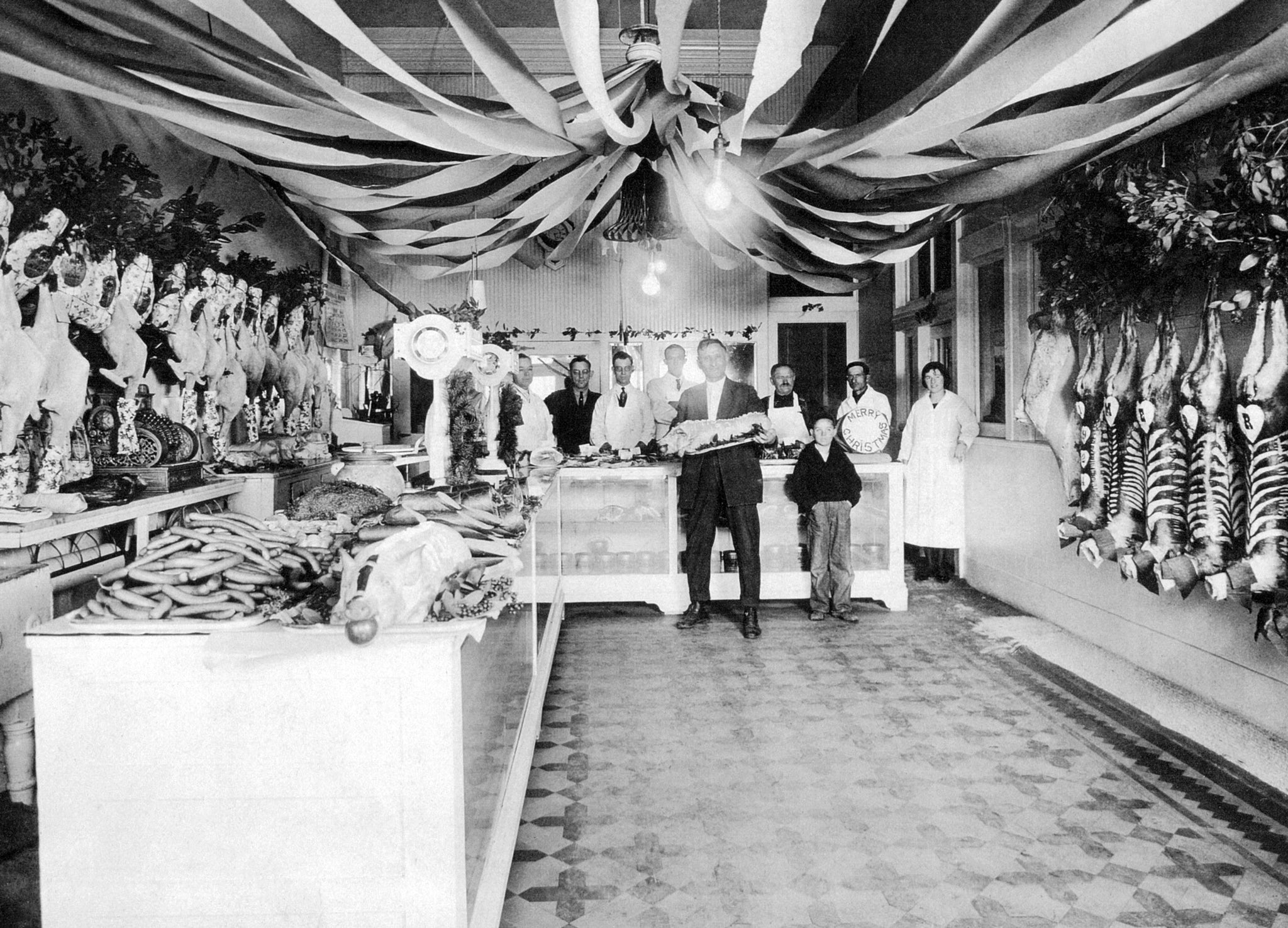 Chalmers Brothers Meat Market at 606 Main Street, Woodland. -- Yolo County Archives