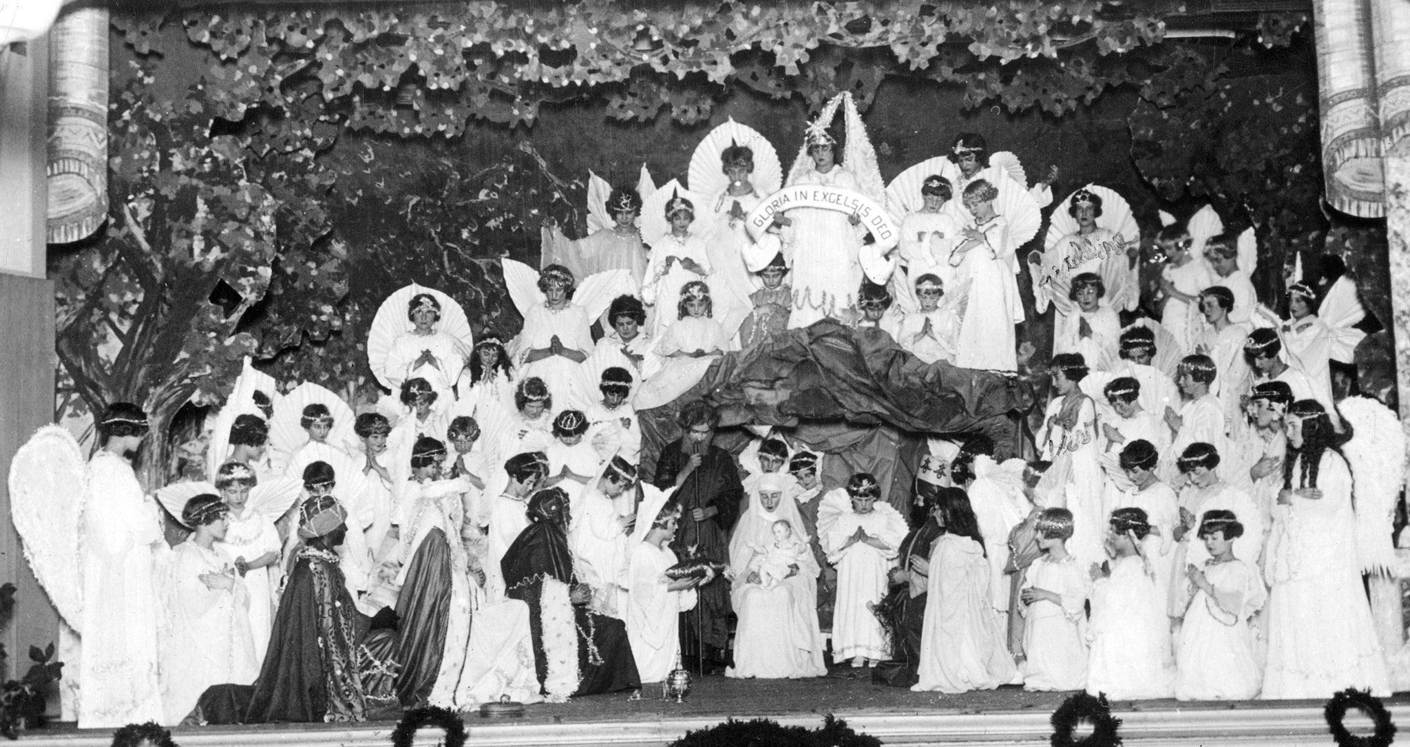 A Christmas school play in Leo Hall at Holy Trinity Parish in 1924. -- ROBERTA WEBER, ROSE E. KREUTZ