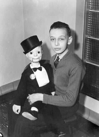 Fifteen-year-old ventriloquist Don May at his home in 1938. -- Courtesy Karen (Lovold) Schultz