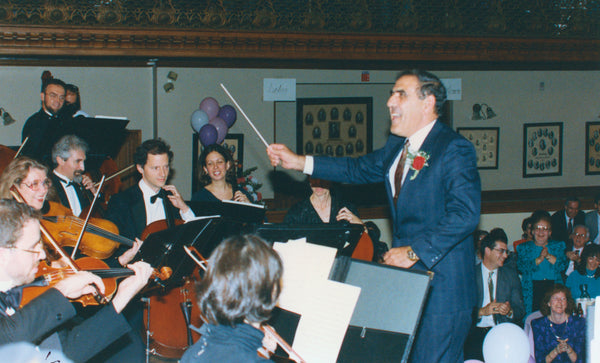 Mayor Peter Torigian conducting at a City Hall concert, circa 1990s. Courtesy Peabody Historical Society