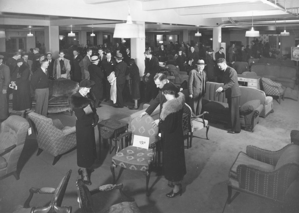 The furniture department at Meier & Frank in 1937.